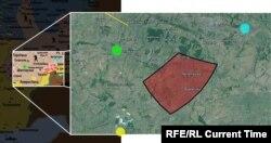 Мапа, базована на розрахунках нідерландської та української сторін