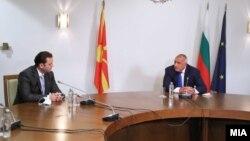 Илустрација - Архивска фотографија од министерот за надворешни работи на Македонија, Бујар Османи, и бугарскиот премиер Бојко Борисов во Брисел, 9 Октомври 2020