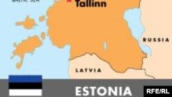 Эстония картасы (Көрнекі сурет).