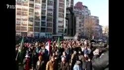 Protesta e serbëve në veri të Mitrovicës