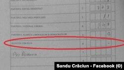 Romania Sandu Crăciun vote candidate USR PLUS Piatra Olt
