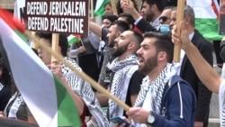 Palestinian Diaspora In Belgrade Rallies To Support Palestinians In Jerusalem