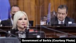 Ministarka Zorana Mihajlović u Skupštini Srbije, 15. april 2021.