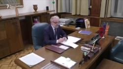 Džaferi u kabinetu predsednika makedonskog parlamenta
