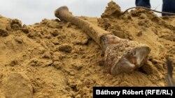A nagykállói Tekenős dombon emberi maradványok fordultak ki a földből a munkálatok miatt. A megbolygatott sírokból csontok kerültek elő, néhányat összegyűjtöttek az elején, de nem voltak alaposak.