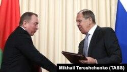 Уладзімер Макей насустрэчы зь Сяргеем Лаўровым