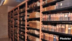 Көне қолжазбалар сақталған кітапхана. Армения, 2011 жыл. (Көрнекі сурет).