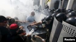 Украина Югары радасы янында бәрелеш