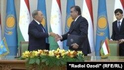 Президенты Таджикистана и Казахстана