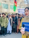 """Mahbuba Muhammadi, a former correspondent for Salam Watandar Radio in Mazar-e Sharif, quit her job and left Afghanistan after receiving """"incessant"""" threats from the Taliban."""