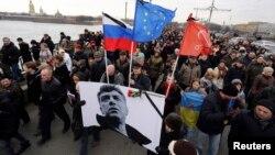 Ռուսաստան - Երթը Մոսկվայում՝ ի հիշատակ Բորիս Նեմցովի, 1-ը մարտի, 2015թ․
