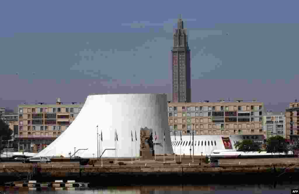 The cultural center Le Volcan (The Volcano), designed in 1982, in the western French town of Le Havre