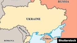 Ресей Украинадан аннексиялап алған Қырымның картасы. (Көрнекі сурет)