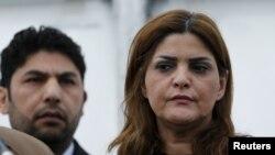 Samira al-Masalma, članica opozicionog Visokog komiteta za pregovore (HNC), u Ženevi 15. marta 2016.