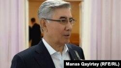 Жармахан Туякбай перед съездом партии. Алматы, 26 апреля 2019 года.