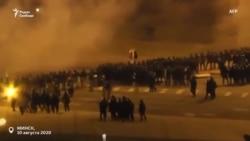 Жестокое подавление протестов в Минске