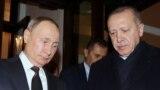 Владимир Путин и Реджеп Эрдоган после переговоров по Сирии в Москве 5 марта 2020 года