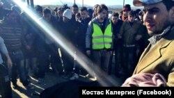 Судири на грчката полиција со мигрантите