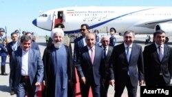 İran prezidenti Həsən Ruhani Azərbaycana gəlib. 07.08.2016