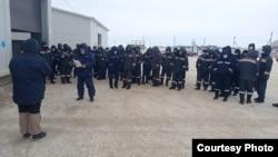 Забастовка нефтяников «АМК-Мунай». Актюбинская область, 29 января 2021 года.