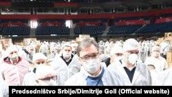 Aleksadar Vučić u Stark areni u Beogradu