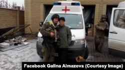 Галина Алмазова в зоні бойових дій, керівник евакуаційної бригади «Вітерець»