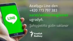 Azatlyk Line ulgamynda: +420 773 797 383