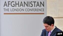 დევიდ მილიბენდი ავღანეთისადმი მიძღვნილ კონფერენციაზე. ლონდონი, 2010 წ. 28 იანვარი