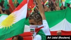 Митинг на ирачките Курди во Духук во пресрет на референдумот закажан за 25 септември
