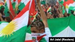 Од митинг за поддршка на референдумот за независност на курдскиот регион во Ирак, Духук, 16.09.2017.
