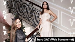 Лейла и Арзу Алиевы на фотосессии