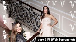 Лейла і Арзу Алієви на фотосесії