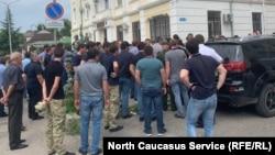 Акция силовиков в Сухуми, 18 июля 2019 г.