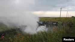 Фотографія із місця падіння літака в Донецькій області, 17 липня 2019 року