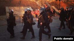 "Бойцы ""Беркута"" на улицах Киева. Февраль 2014 года"