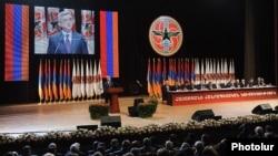 Съезд правящей Республиканской партии Армении, Ереван, 10 марта 2012 г.