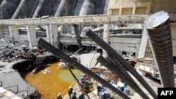 Саяно-Шушенская гидроэлектростанция после аварии