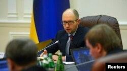 Украинаның жаңа премьер-министрі Арсений Яценюк. Киев, 27 ақпан 2014 жыл