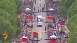 Thousands Of Albanians Greet Pope Francis