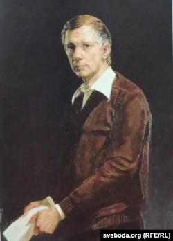 Міхаіл Савіцкі. Партрэт Васіля Быкава. 1984 г.