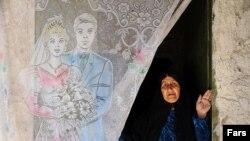 İranlı yaşlı qadın.