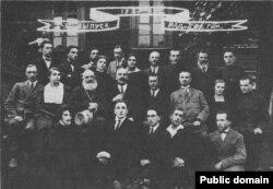 Створаная А. Уласавым (у цэнтры) Радашкавіцкая беларуская гімназія, 1924