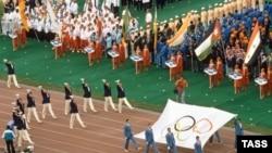 На церемонии открытия Олимпиады 1980 года в Москве