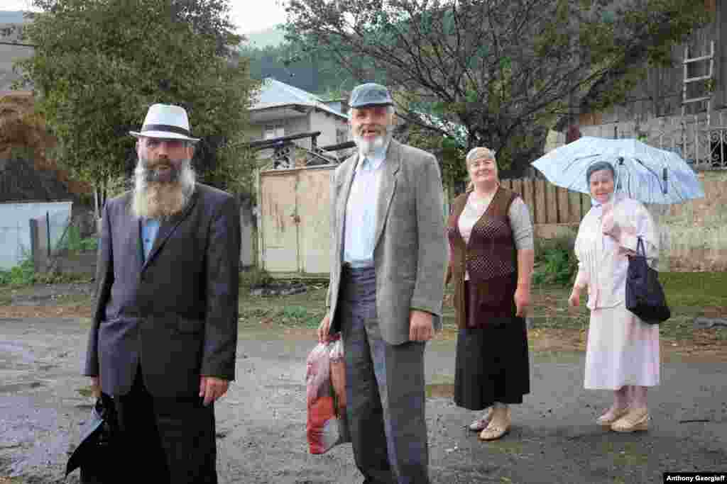 "Russian-speaking Molokans in Armenia. The name means ""milk-drinkers,"" possibly referring to sect members' refusal to obey the Orthodox Church's orders to fast on given days."