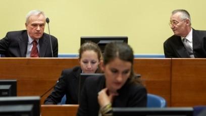Ponovljeno suđenje Jovici Stanišiću (gore lijevo) i Franku Simatoviću (gore desno), posljednji je proces pred Haškim sudom u kojem se utvrđuje da li su zvaničnici Srbije bili odgovorni za ratne zločine u Hrvatskoj i BiH.(Foto: Hag 30. maja 2013.)