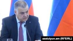 Министр юстиции Давид Арутюнян, Ереван, 23 апреля 2018 г.