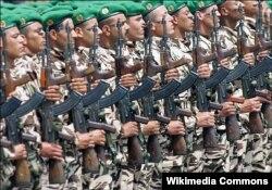 Военнослужащие марокканской армии на параде в Рабате