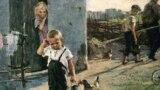 """Фрагмент репродукции картины К. Н. Успенской-Кологривовой """"Не взяли на рыбалку"""""""
