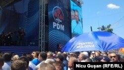 Mitingul Partidului Democrat în PMAN, Chișinău, 9 iunie 2019