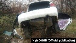 Авто, попавшее в аварию.